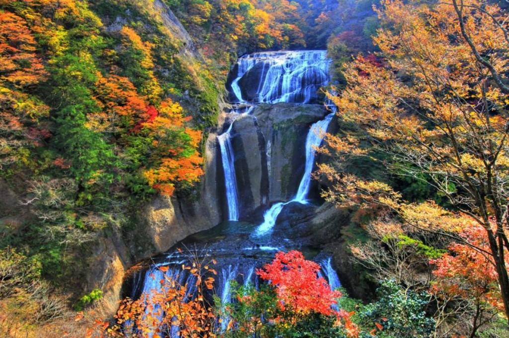 紅葉スポット11_袋田の滝